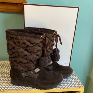 Make an Offer • Sz 9.5 Coach Juniper Boots